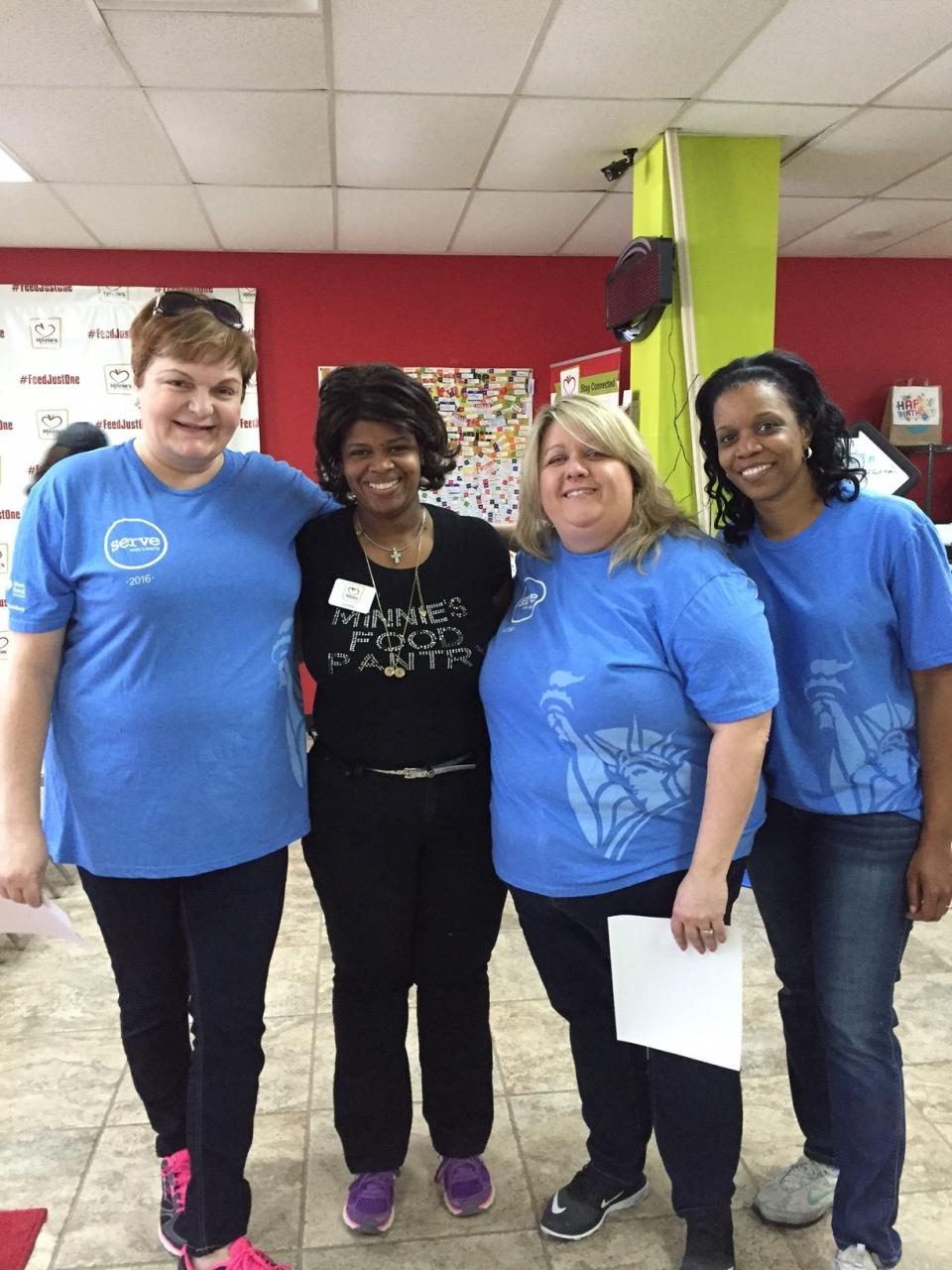 Liberty employees participating in Serve with Liberty