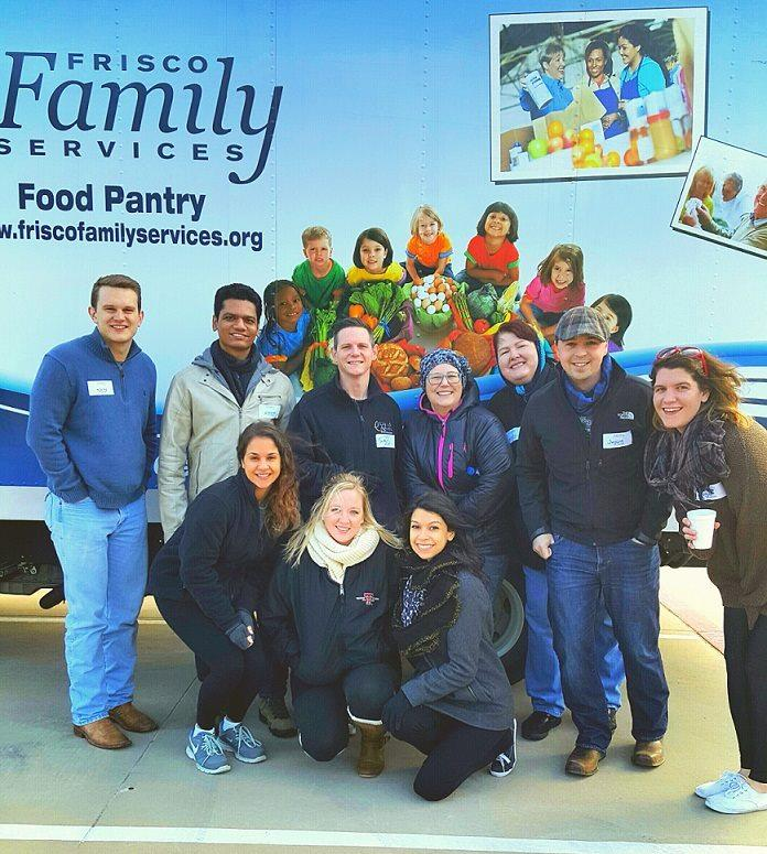 Volunteering at Frisco Family Services