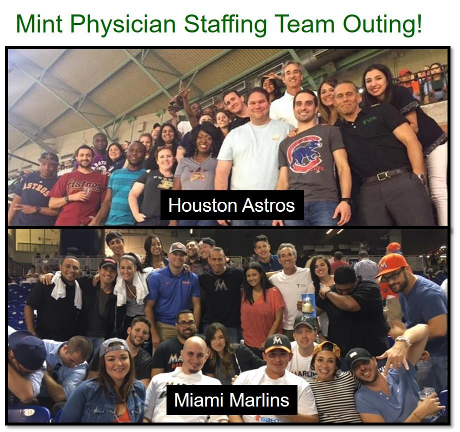 Mint enjoys spending time at a baseball game a couple times a year!