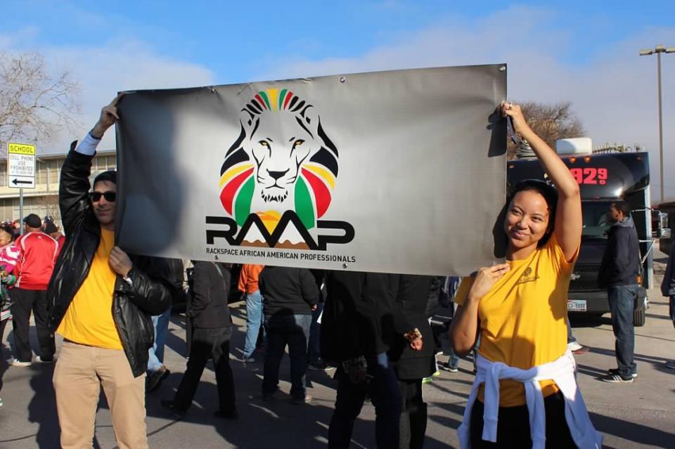 Rackers marching in the San Antonio MLK walk
