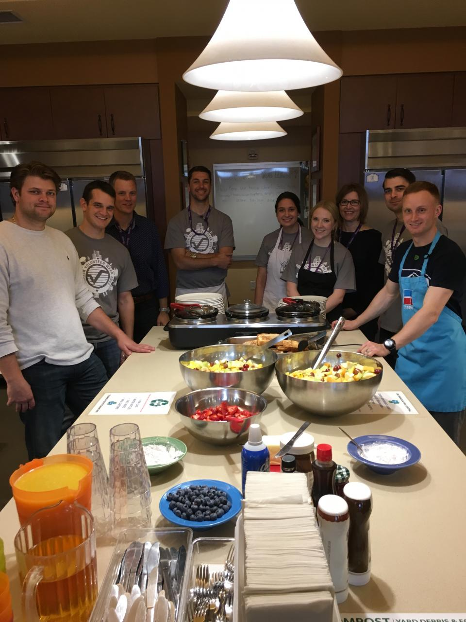 Verisk employees volunteered to prepare brunch at the Ronald McDonald House in Calgary, Alberta, Canada