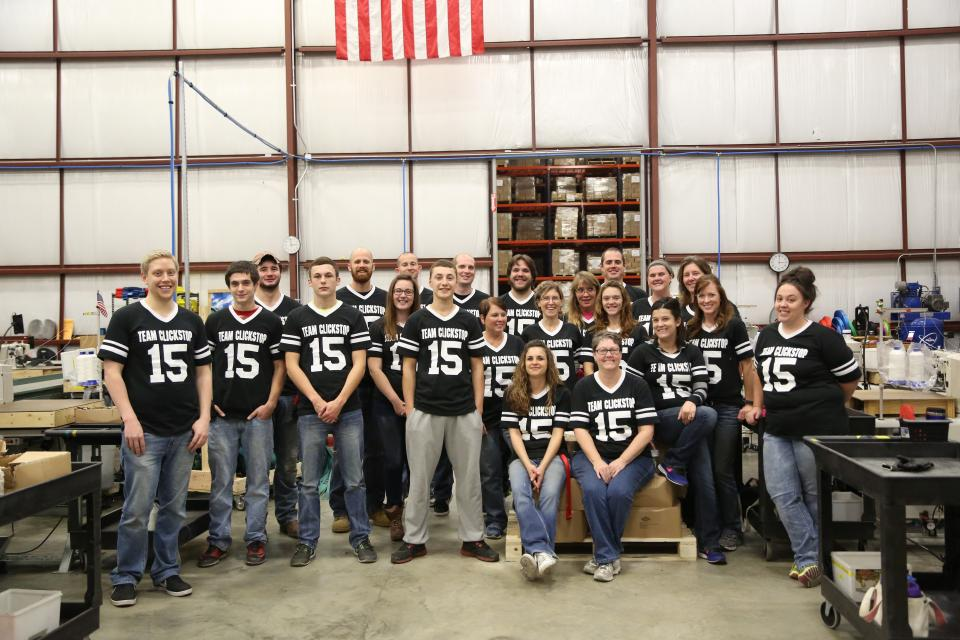 Our awesome manufacturing crew
