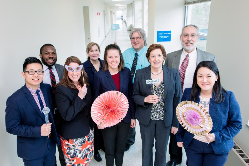 Mayo Clinic staff celebrates the count down toward the implementation of a single electronic health record and revenue cycle management system. A core team of more than 450 staff work on the project, which affects thousands of staff and 1.3 million patients.