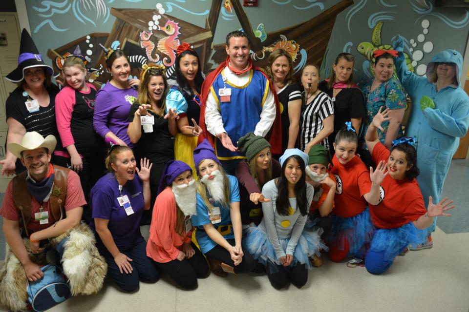 McLane Children's staff having fun on Halloween.