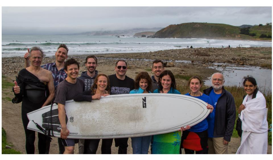 Surf Lessons by our CSO at Metabiota Science Retreat 2016