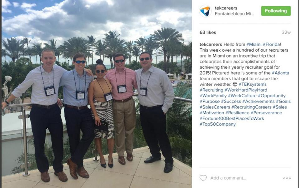 Here are some of our Atlanta recruiters that attended our Recruiter Incentive Trip in Miami for achieving their yearly recruiter goal in 2015!