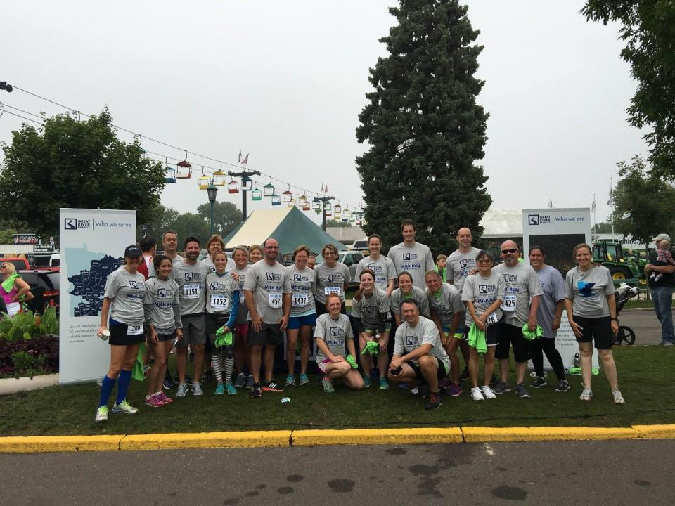 Employees participate in Great River Energy sponsored Milk Run at the Minnesota State Fair