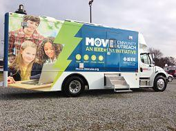 MOVE {Mobile Outreach VEhicle} Community Outreach – an IEEE-USA Initiative is an emergency relief program committed to assisting victims of natural disasters with short-term communications, computer, and power solutions.