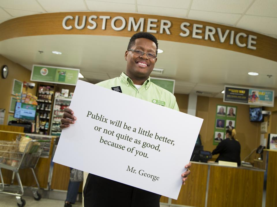Publix associates are dedicated to the philosophies of our founder, George Jenkins.