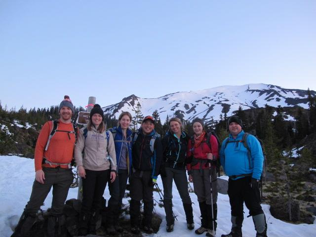 Seattle office hikes Mt. St. Helens