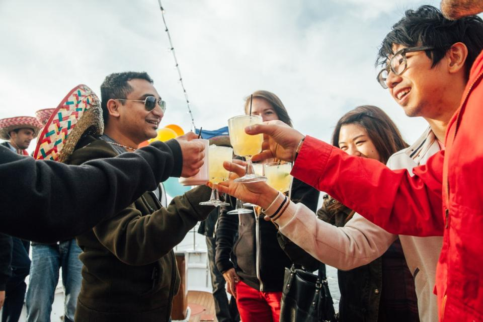 Cheers! Our Cinco de Mayo yacht party was a blast.