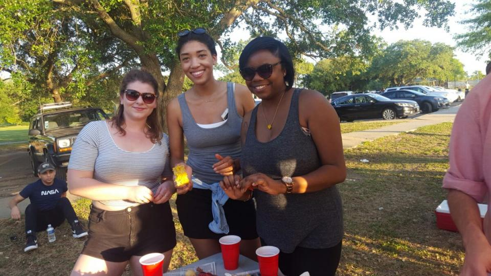 New Orleans team members at our crawfish boil!