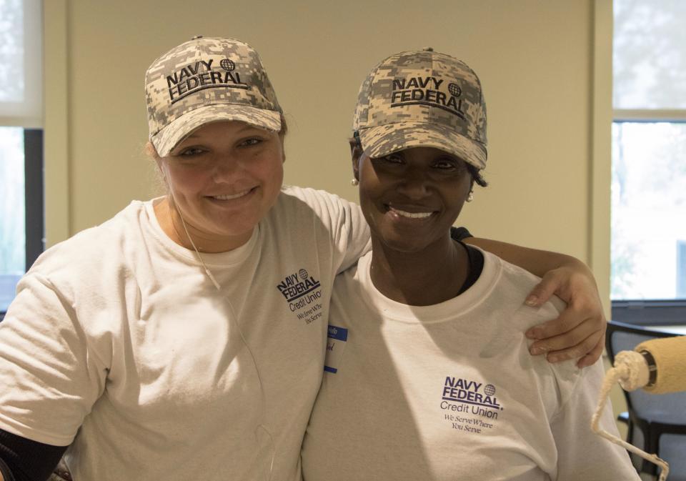 Navy Federal employees volunteer for Rebuilding Together.