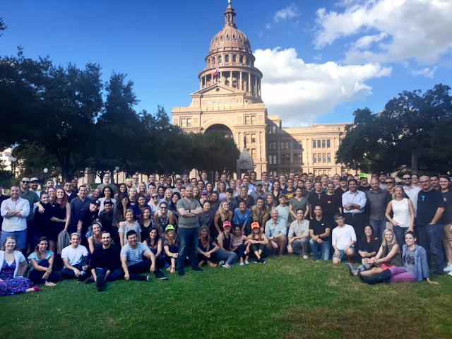 TK Team Photo in front of Texas State Capitol