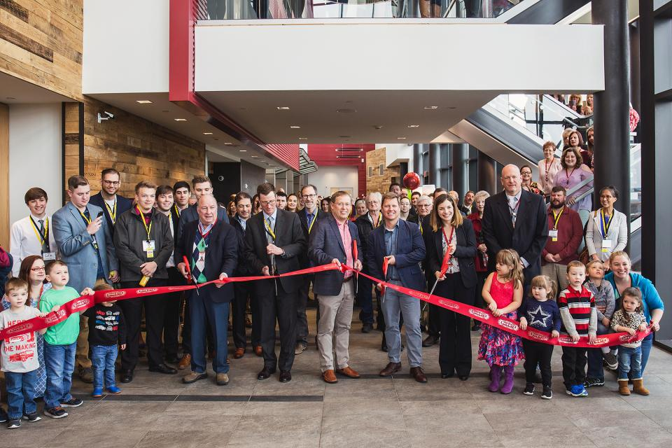 Ribbon-cutting event at our new Sheetz Operations Support Center welcomed employees and family.
