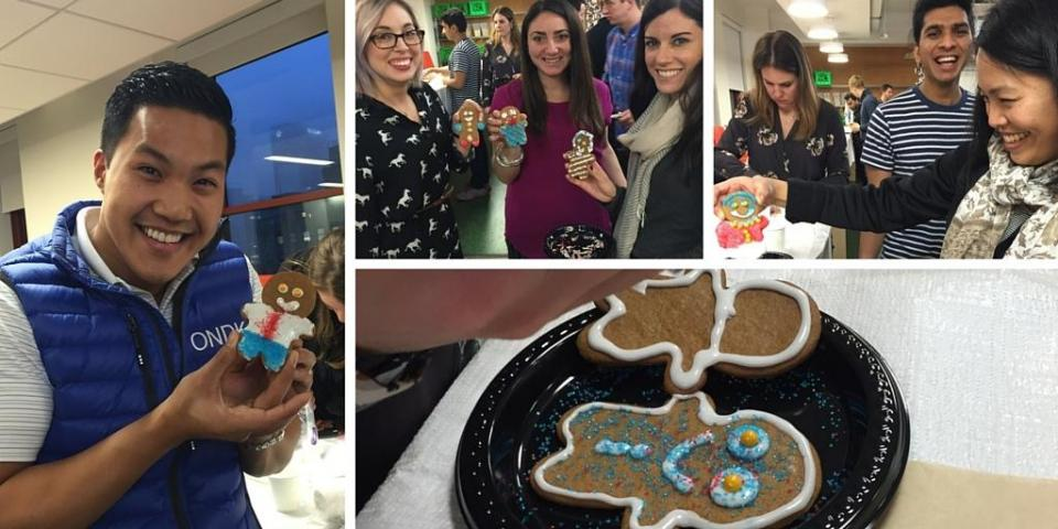 Our NYC team members had a great time making gingerbread men at last week's happy hour!