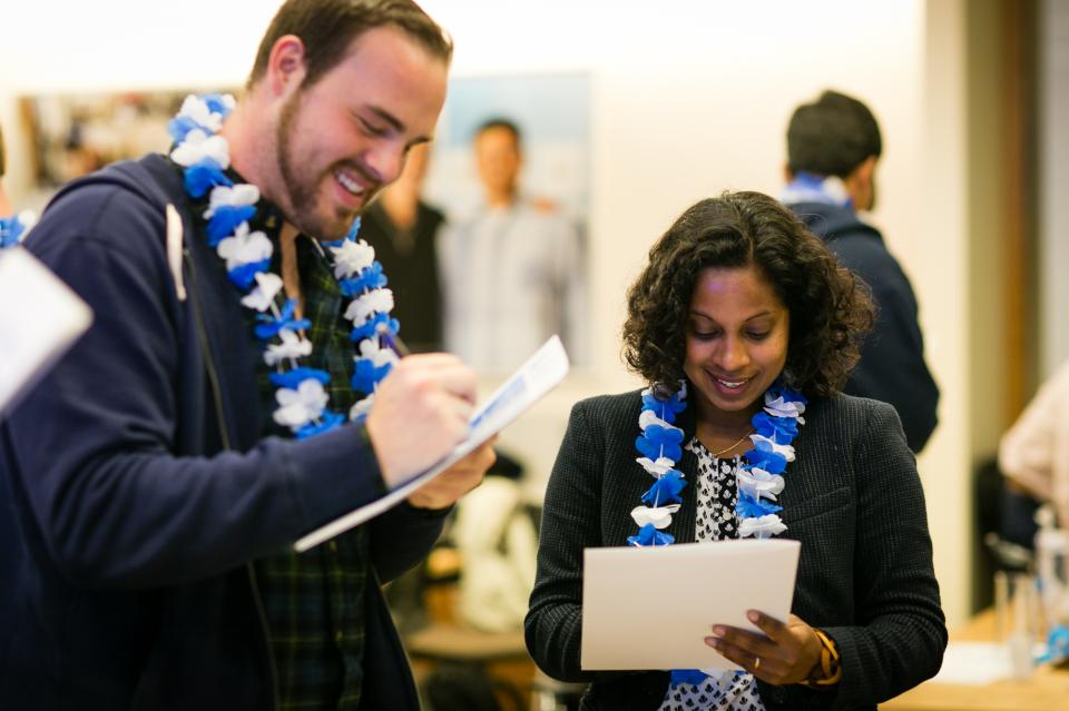 Salesforce new hires in an onboarding exercise