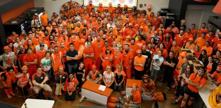 Orange day will always be a staple during Zillapalooza, our annual, week long spirit week