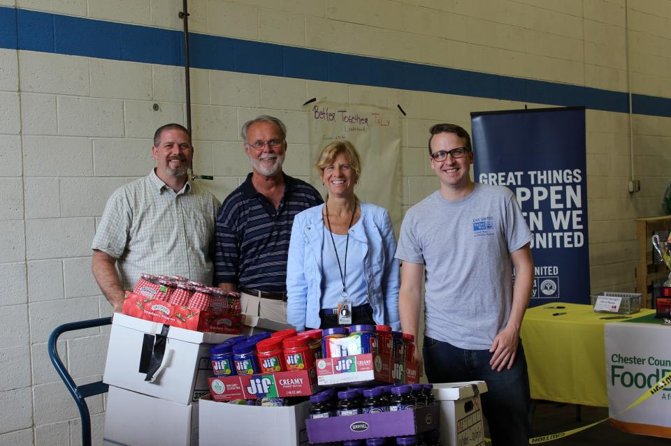 Citadel collects and donates peanutbutter and jelly for the Chester County Food Bank!