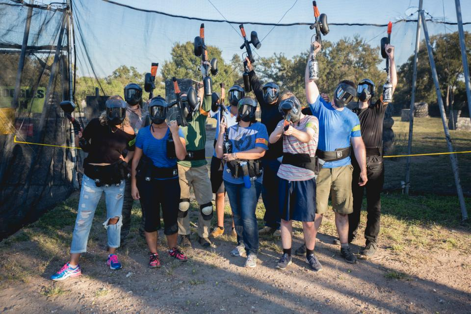 Paintballing at our last Summit