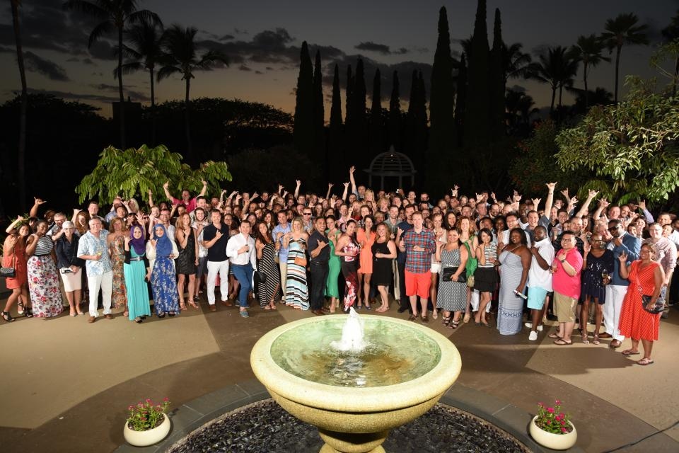 Some of our BEST and BRIGHTEST hanging in Hawaii for our President's Club trip in 2015