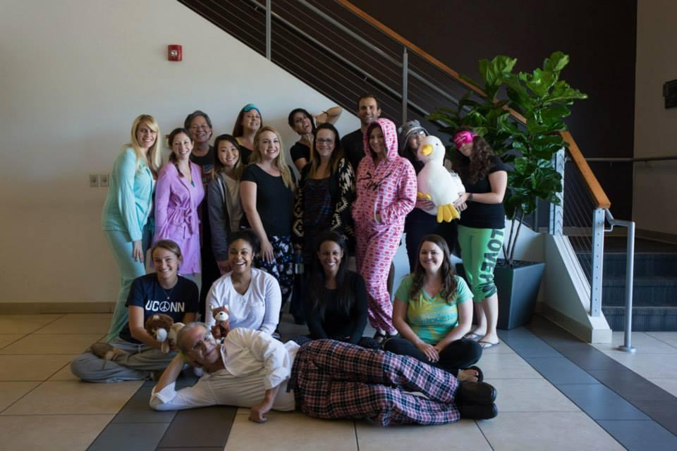 New American Funding employees showing off their comfy clothes on PJ Day.