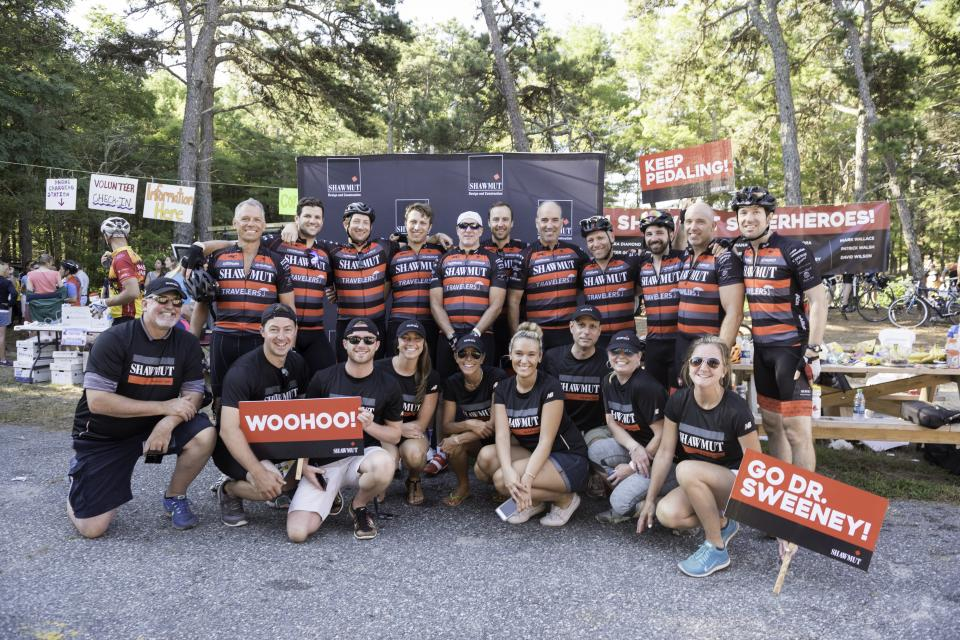 Team Shawmut and volunteers at the 2016 Pan-Mass Challenge