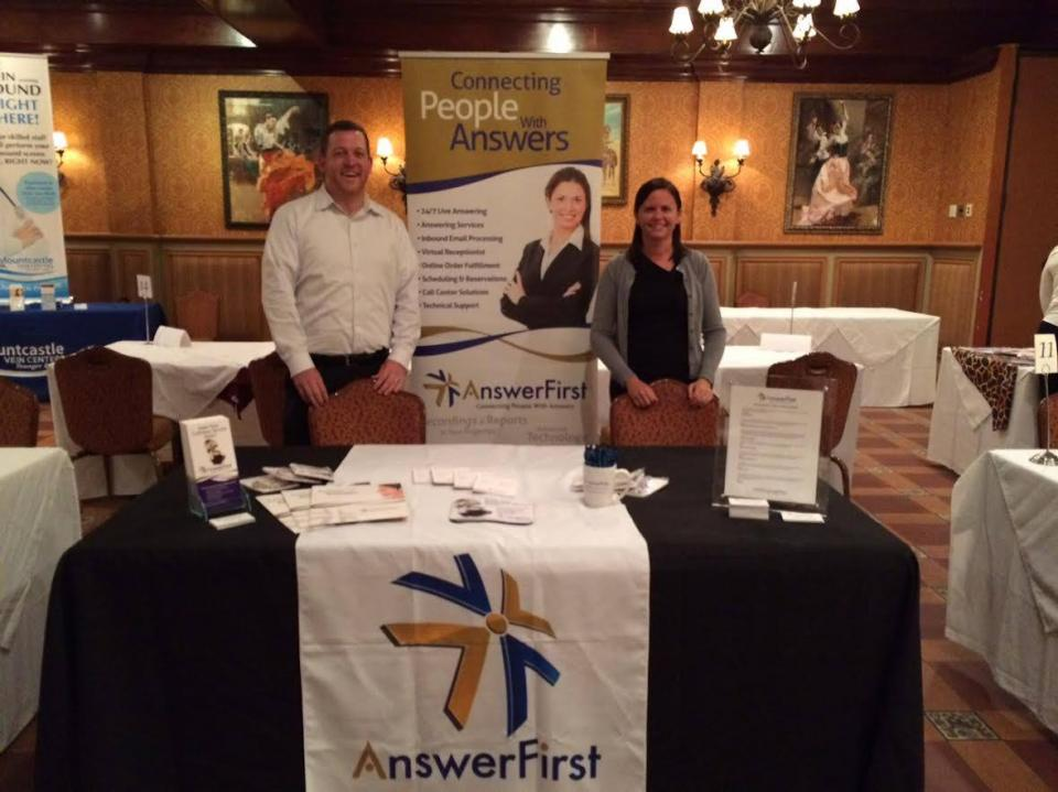 Pat Skinner, AF Business Development Mgr. and Aimee Roy, Client Support Specialist at Networking Event