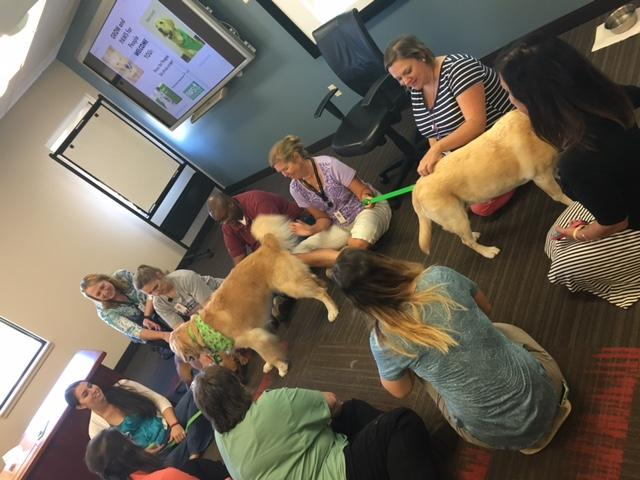 One Gore plant recently brought in four-legged friends through the Paws for People program to help relieve stress and raise awareness about the volunteer organization.