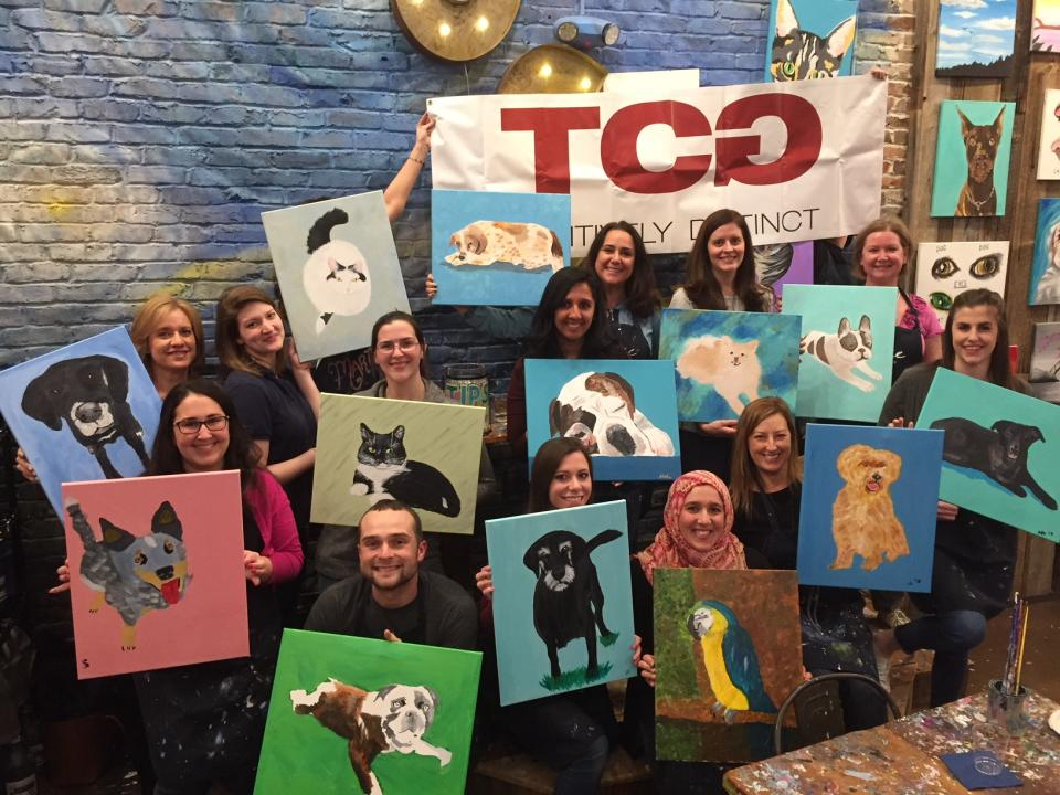 Each month TCG hosts Social Sprees, which are social events planned and organized by staff. Past events include experiencing IFLY, painting pictures of their pets, learning how to scuba dive, playing paintball, and many other events.