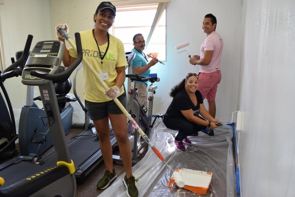 Ultimate's PRIDEUS Group Volunteers at Poverello Center