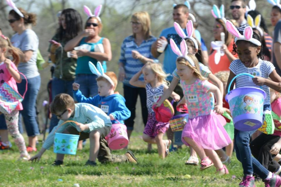 Family-oriented events like this annual picnic on the day before Easter are a key part of the family-friendly environment at Pinnacle.