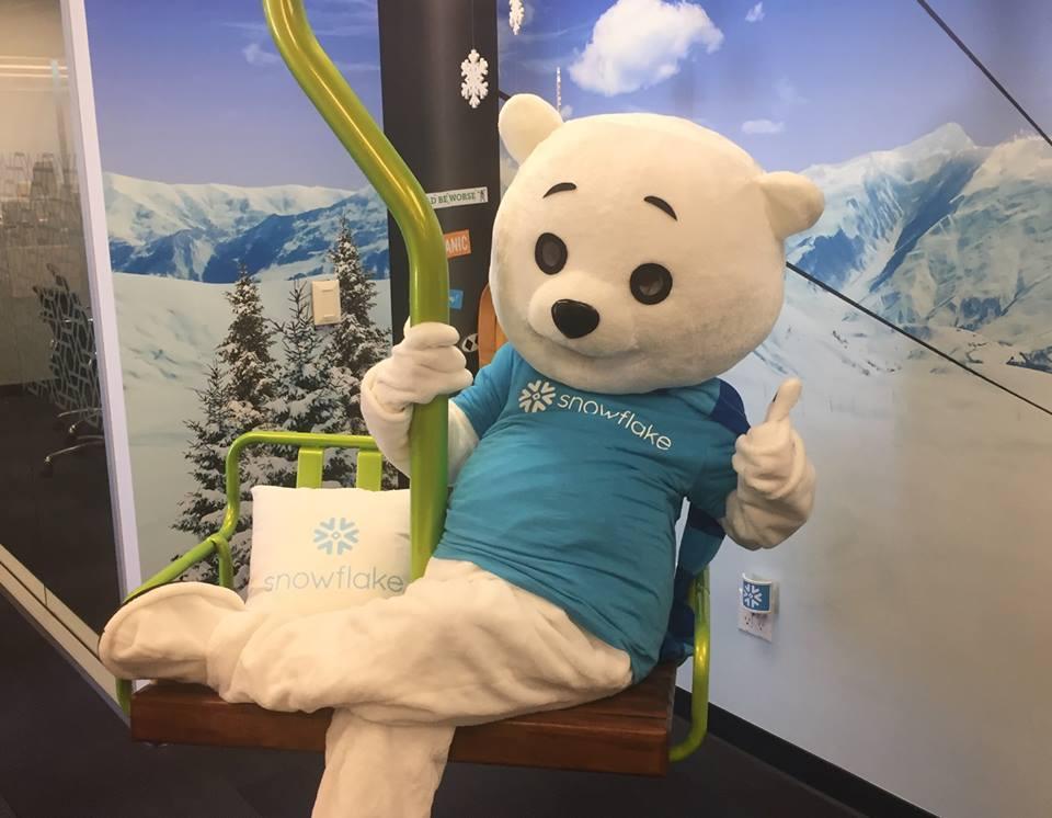 Snowflake - Our mascot on our ski lift