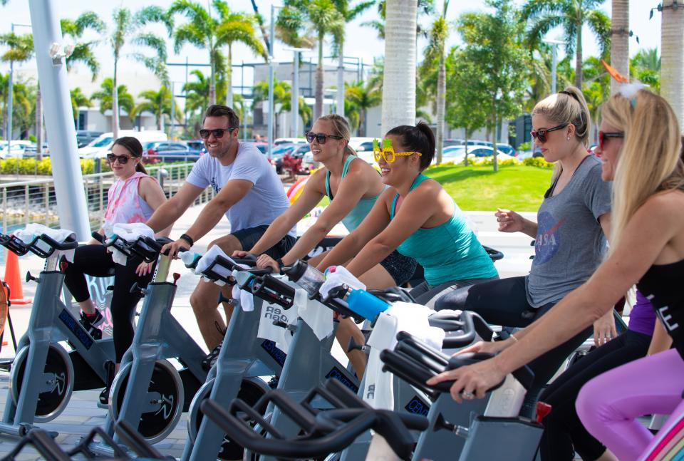 We spun into the summer with an outdoor spin class by the lake!