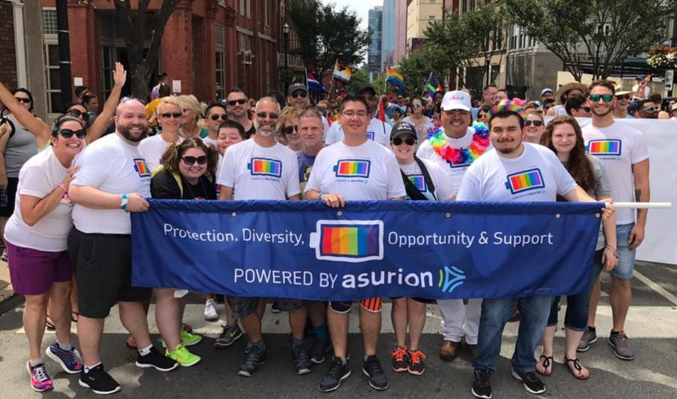 National Pride Month is incredibly exciting for our Pride ERG. The group held membership drives at 11 Asurion sites, grew its membership by 36 percent, and participated in the Nashville Equality Walk.