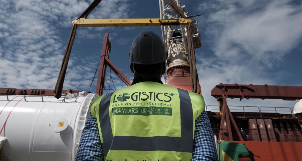 Logistics Plus Proud Cargo Worker