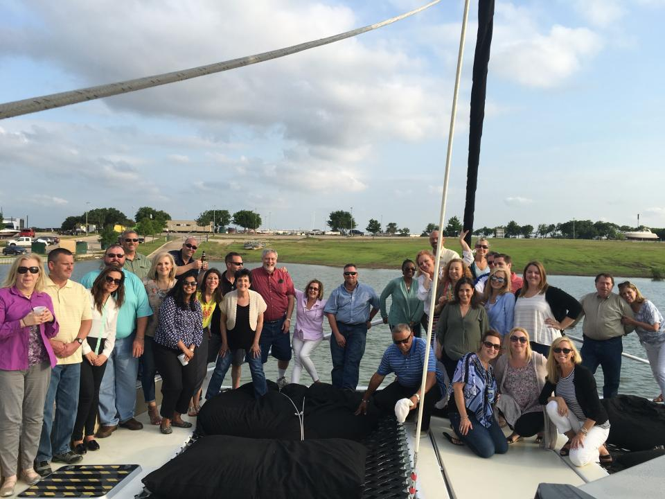 We truly enjoy our fellow Graniteers! Here, we sailed the high seas on a catamaran to celebrate our property management employees gathering together for their annual meeting.