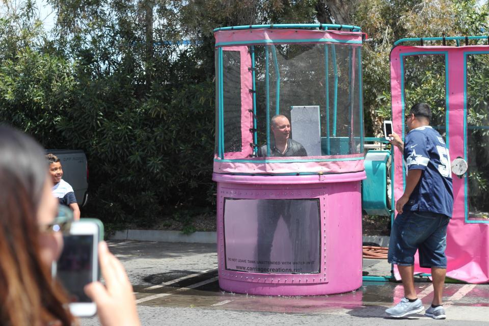 Open House -  President in Dunk Tank