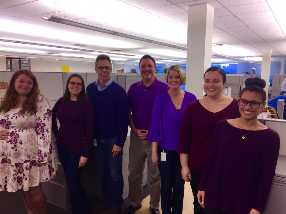 That time when our Malvern team showed their Ellucian pride by inadvertantly all wearing purple on the same day!