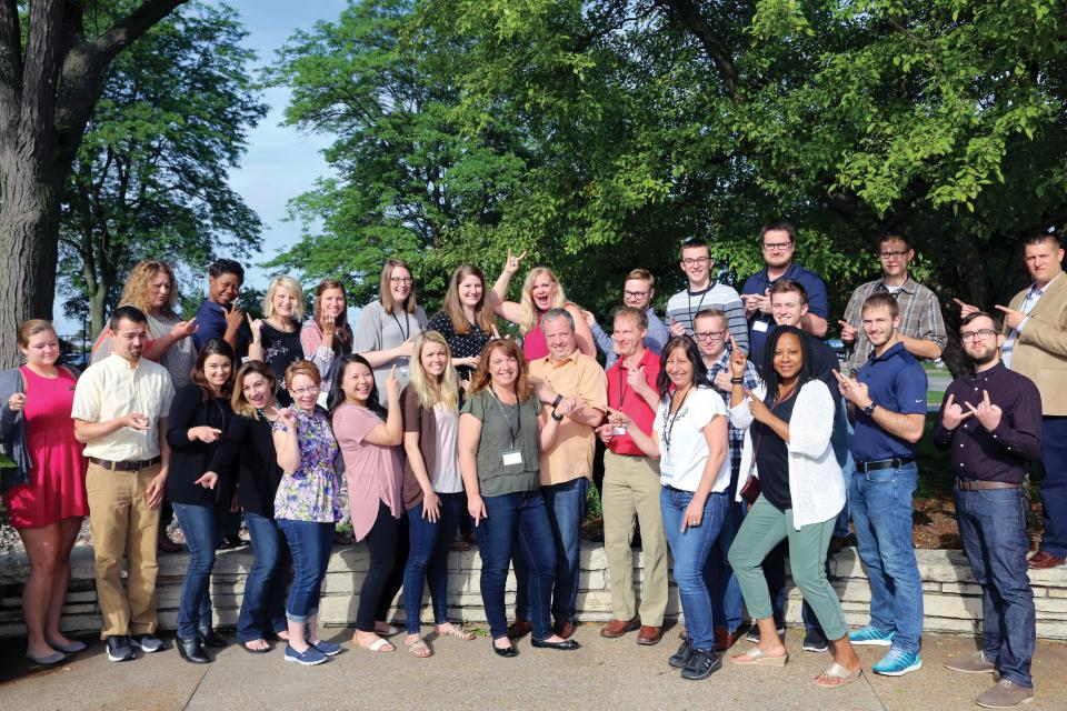 New associates from near and far come together and get a little goofy at QuickStart, SECURA's two-day orientation program.