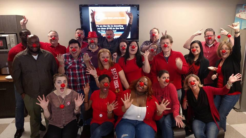 Participating in Red Nose Day