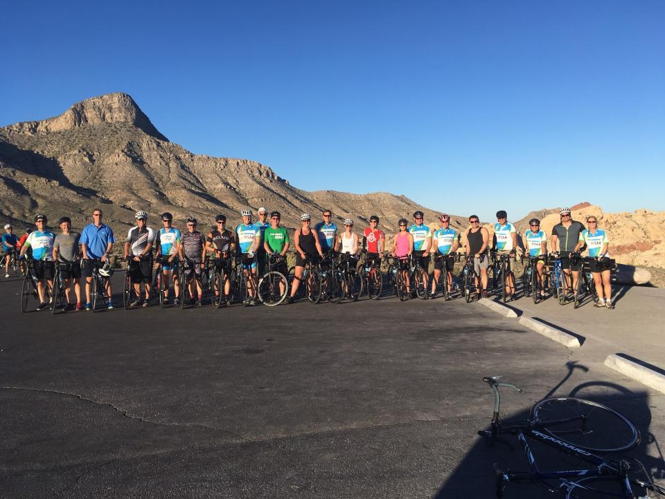 RSM partners/principals enjoy a group bike ride through the Grand Canyon following biennial meeting in Las Vegas