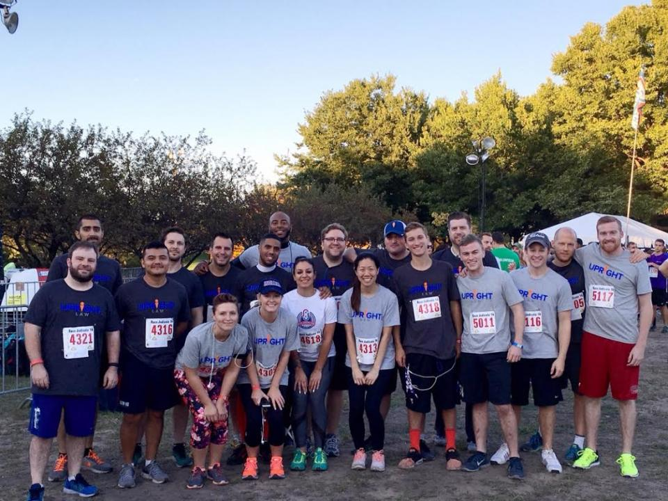 More than 20 employees run in Race Judicata to benefit the Chicago Volunteer Legal Services Foundation.