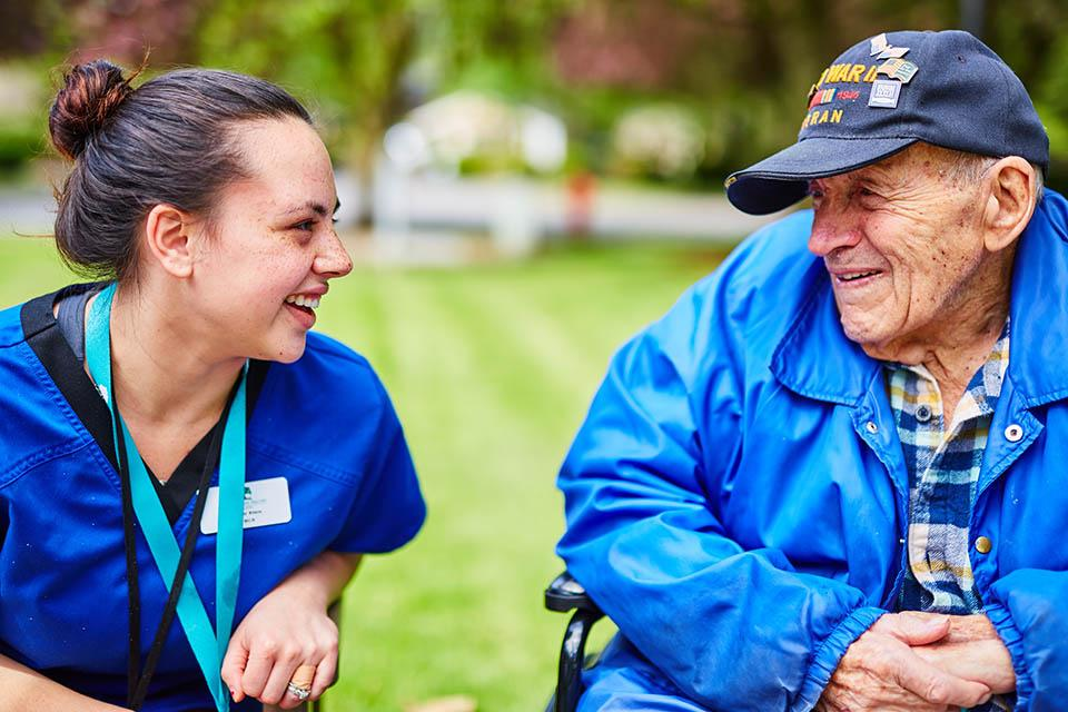 Caregivers are the first of many roles at our company that gets to engage with our residents regularly.