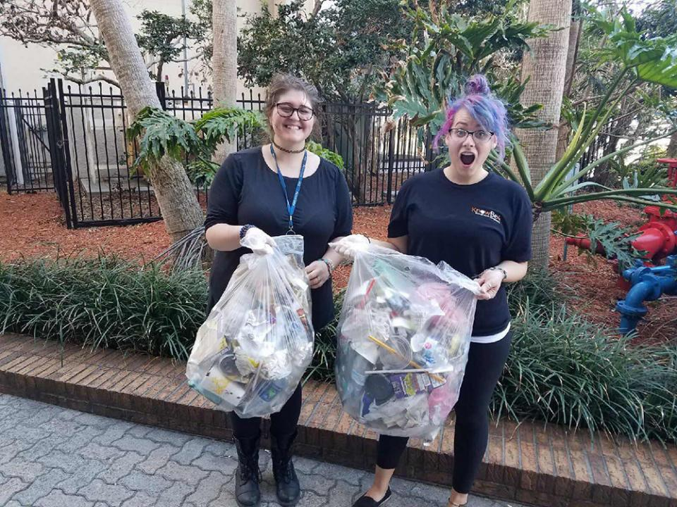 These Two Employees Started An Effort to Clean Up the Area Resulting in a Full Afternoon Where Almost 50 Employees Chipped in to Help!