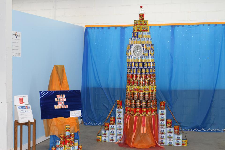 Rocket's United Way 'Blast Hunger' display, built by employees