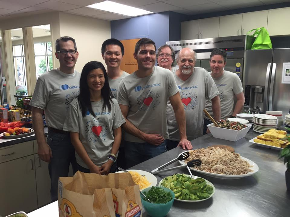 Once a quarter a Cirrus Logic team prepares meals for guests at the Ronald McDonald House.