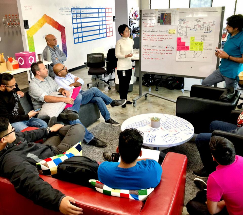 Design Thinking workshops provide opportunities for employees to come together to collaborate, ideate, prototype and test ideas applying creativity and imagination.