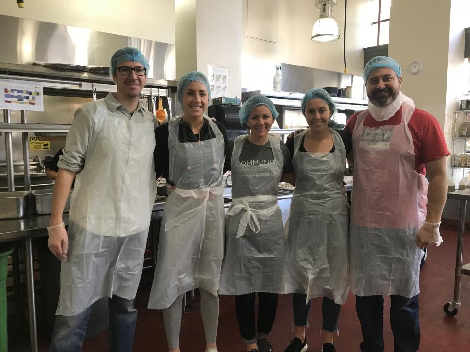 Employees using their Volunteer Time Off to help out at Project Open Hand in San Francisco