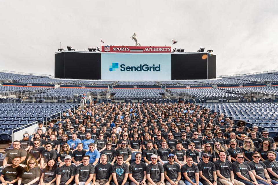 SendGrid at it's annual KASA (Kick Ass Summer Alignment) at Sports Authority Field at Mile High.